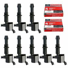 Motorcraft Spark Plugs Straight Boot Ignition Coils Ford Lincoln Mercury V8 V10