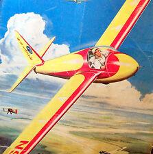 """Vintage SCHWEIZER 1-23 54"""" Span TowLine Glider Free Flight Model Airplane PLAN"""