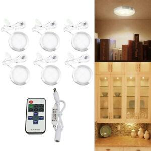6 LED Unterbau-Leuchten Lampe Küche Schranklicht flach Aufputz-Strahler Spot SET