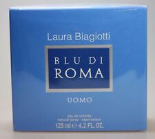 Laura Biagiotti BLU Di ROMA Uomo 125ml Eau de Toilette Spray Neu / Folie