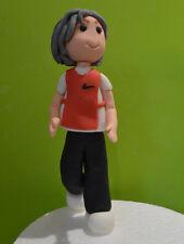 3D Novelty HANDMADE RUNNING OR SITTING LADY FIGURE TOPPER/ birthday
