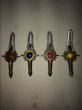 (4) Bandai TIME FORCE Power rangers Action Figure Sword Dagger Knife WILD Weapon