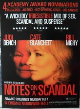 NOTES ON A SCANDAL : -MAGAZINE ADVERT- Cate Blanchett 2007 -32cm x 23cm-