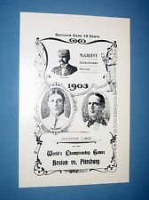 1903  World Series Score Card  -  limited ed.  Opie reprint