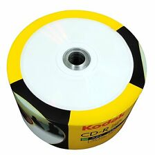 NEW 50-PK Kodak 52X White Inkjet Printable Blank CD-R CDR Disc Media 700MB