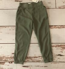 NWT Gymboree Green Pants w/ Elastic Waist Size 5