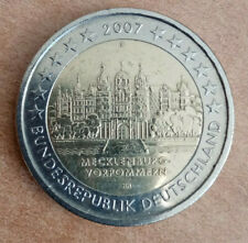 2 Euro 2007 Germania Castello di Schwerin zecca disponibile  F - D - G