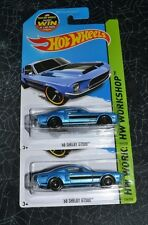 2015 HOT WHEELS HW WORKSHOP ' 68 SHELBY GT500 BLUE 226/250 SET OF TWO
