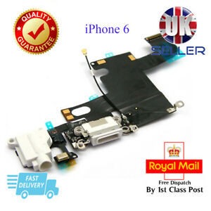 New White Charging Dock Port Connector Assembly Flex Cable For iPhone 6 6G