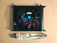 "Universal 30 ROW ENGINE/TRANSMISSION OIL COOLER oilcooler + 7"" Inch ELECTRIC FAN"