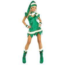 Adult Sassy Elf Fancy Dress Costume X-small Green