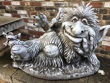 Steinfigur  Wichtel Troll  Garten Deko Gartenfiguren Fantasiefigur