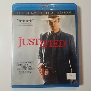 Justified: The Complete First Season   Blu-ray   Timothy Olyphant   Pre-owned