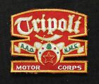 "1960s ""TRIPOLI MOTOR CORPS"" A.A.O. N.M.S. MASONIC FREEMASON SHRINER JACKET PATCH for sale"