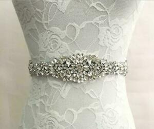 Rhinestones Bridal Sash Wedding Dress Sash Beaded Belt Crystal Waist Belt