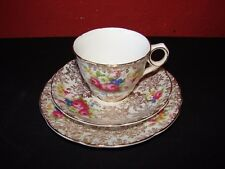VINTAGE Jane Ridge BURSLEM TRIO TAZZA DA TE/Piattino/PIASTRA LATERALE