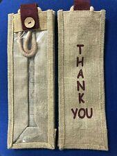 "Hessian / Jute Bottle Bag ""Thank You"""