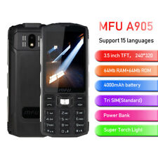 "MFU A905 Mobile Phone 3.5"" 4000mAh Power Bank Tri SIM Wireless FM Big Volume"