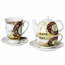 Original Cucina Italiana Coffee Pot and Cup Stackable with Cup and Saucer