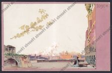 LEOPOLDO METLICOVITZ 24 TOSCA PUCCINI MUSICA OPERA LIRICA Cartolina 1900 viagg.
