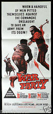 WAR PARTY Donald Barry VINTAGE WESTERN Original Daybill Movie Poster