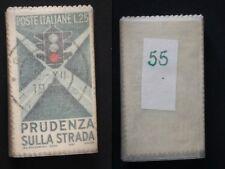 REPUBBLICA  EDUCAZIONE STRADALE 1957 LIRE 25 USATO DA MAZZETTA 55 PEZZI