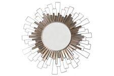 90cm Mirror - Stylish Modern Silver Metal Wall Art Home Decor Round Mirror