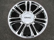 """8"""" GMC BLACK 4 CENTER CAPS FOR 22"""" PLATINUM ESCALADE CHROME WHEELS RIMS 5358"""
