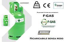 Bombola 12 Kg GAS Refrigerante R134A Aria Condizionata Nuova Sigillo Garanzia