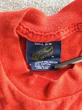 Vtg 80s Sneakers Brand Blank Red T-Shirt XS/XXS 50/50 Plain