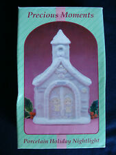 Precious Moments - Porcelain Holiday Nightlight Chapel - 160164 - 1994