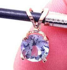 0.80ct Genuine Tanzanite Solid 14K 14KT White Gold Pendant FREE SHIPPING