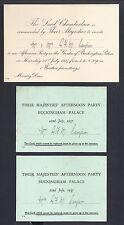 King George VI Queen Elizabeth Garden Party Invitation to Lord Lady Campion 1937