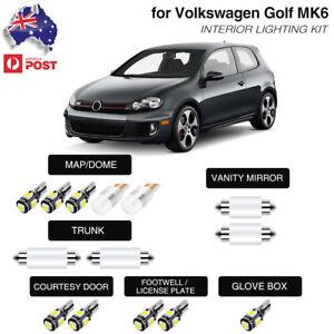 For Volkswagen VW Golf 6 MK6 GTI Lighting LED Interior Map Dome Trunk Light Kit