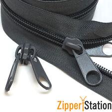 #8 Heavy Duty Continuous Tent Zip, 2-way twin slider for zipper (C8TWIN)