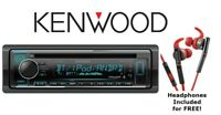 Kenwood eXcelon KDC-X302 CD Receiver with Bluetooth + KH-SR800R Sport Headphones