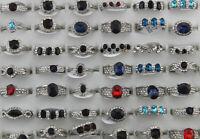 45pcs De gros mixte Lots Variété verre anneaux Bijoux Dame Faux diamant Bagues