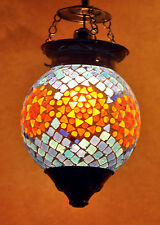 Bar Cafe Turkish Mosaic Hanging Lamp shade Globe Light Pendant Ceiling Lantern