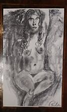 Rita Shulak -Nude Female - Sketch Painting-Charcoal on paper