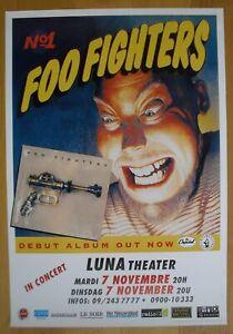 FOO FIGHTERS nirvana original concert poster '95