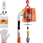 VEVOR 3-in-1 Electric Hoist Winch Portable Crane 1100lbs 25ft w/ Remote Control