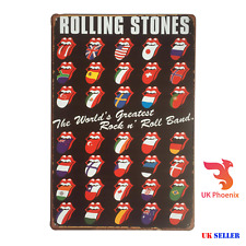 ROLLING STONES 50TH YEARS Metal Sign Plaque LIPS MOUTH 20X30CM ROCK N' ROLL BAND