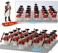 21PCS American Revolutionary War Mini Figure Building Block UK Soldier Army Toys