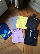 Lot De 2 Polos Et Tes Shirts Adidas, Hollister, Converse, Lévis, Énergie, Rétro