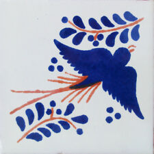 #C054) Mexican Tile sample Ceramic Handmade 4x4 inch, GET MANY AS YOU NEED !!