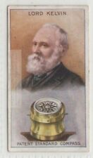 Kelvin Mariners Compass Inventor Galvanometer Physics 90+ Y/O Trade Ad Card