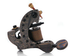 Damascus Series MINOTAUR (SHADER) 10-Wrap Short Coil Tattoo Machine Steel Supply