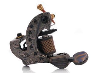 Damascus Series MINOTAUR (SHADER) 10-Wrap Short Coil Tattoo Machine Steel Supply