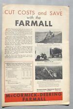 Original 1931 Farmall Ad Endorsed by the Christensen Brothers of Lyons Nebraska