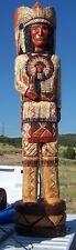 5' Cigar Store Indian Chief Full Headdress Mandela Chest Old Lyn'n Eye Sculpture
